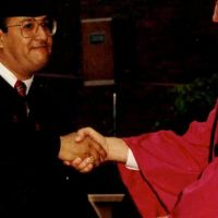 Famous Dave getting his Master's Degree From Harvard University