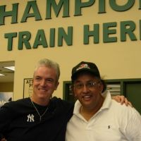 Famous Dave with friend Pepper Burruss, Trainer for The World Champion Green Bay Packers