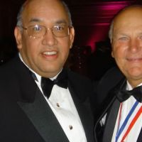 Famous Dave with Wayne Huizenga, founder of Blockbuster Video and owner of the Miami Dolphins