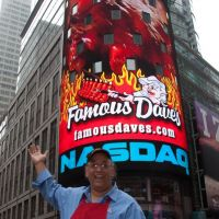 Famous Dave on NASDAQ ...brightest display on that screen ever!
